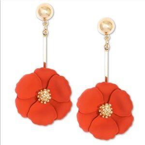 Zenzii Painted Flower Drop Earrings